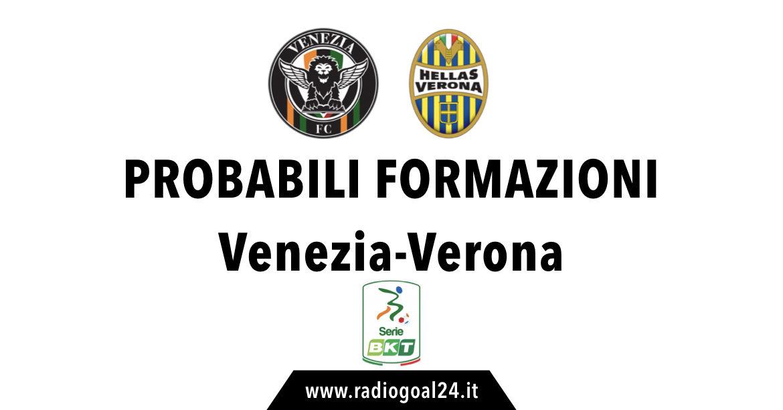 Venezia-Verona probabili formazioni