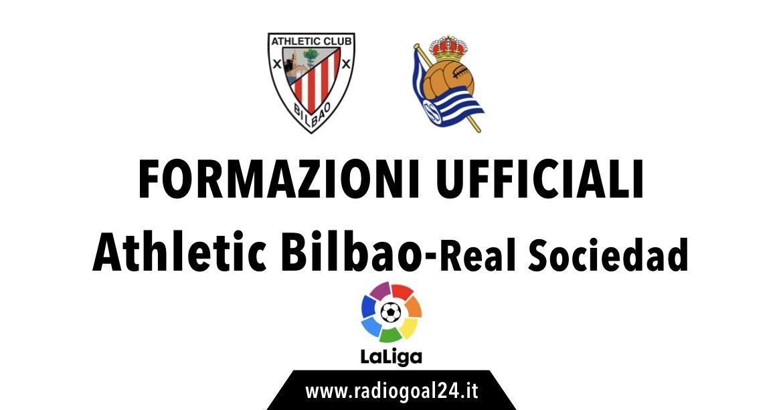 Athletic Bilabo-Real Sociedad formazioni ufficiali