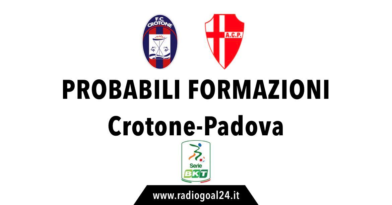 Crotone-Padova probabili formazioni