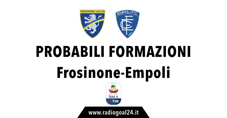 Frosinone-Empoli probabili formazioni