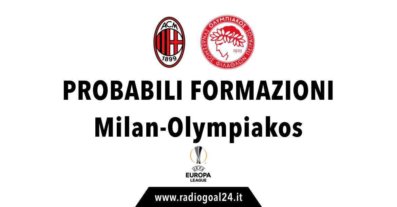 Milan-Olympiakos probabili formazioni