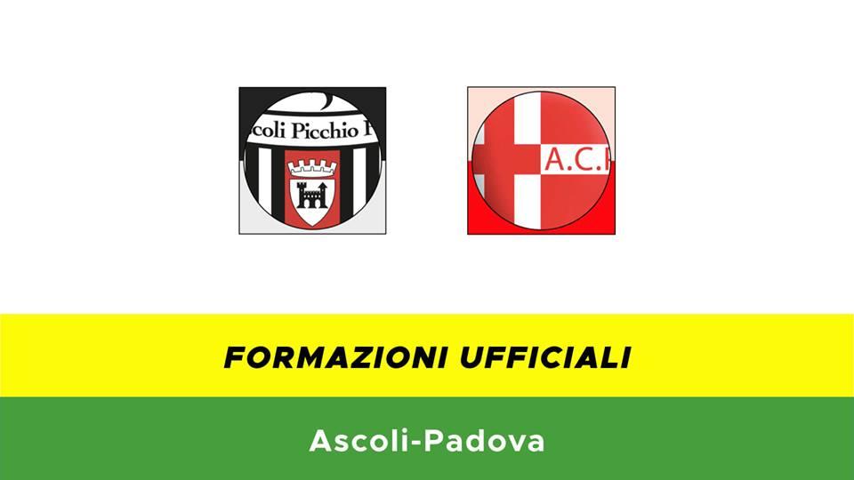 Ascoli-Padova formazioni ufficiali