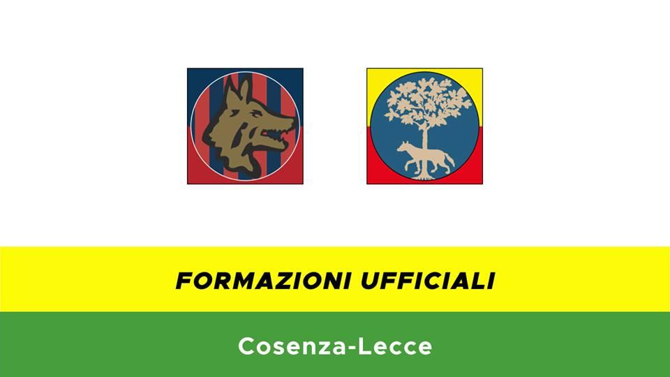 Cosenza-Lecce formazioni ufficiali