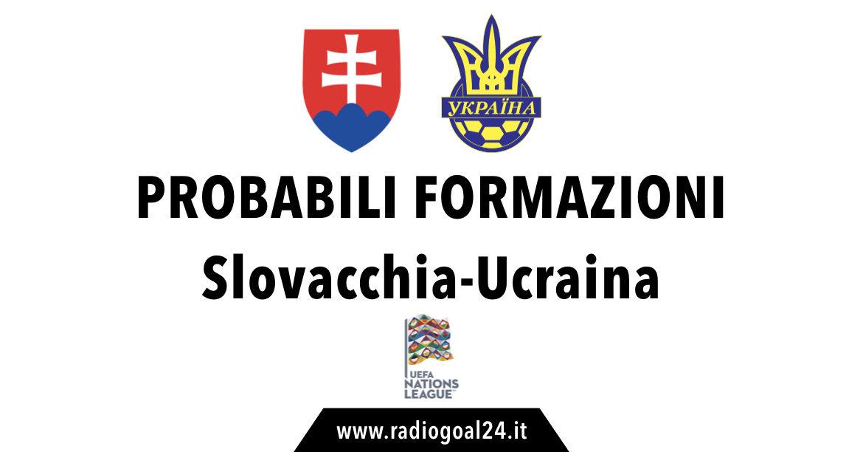 Slovacchia-Ucraina probabili formazioni