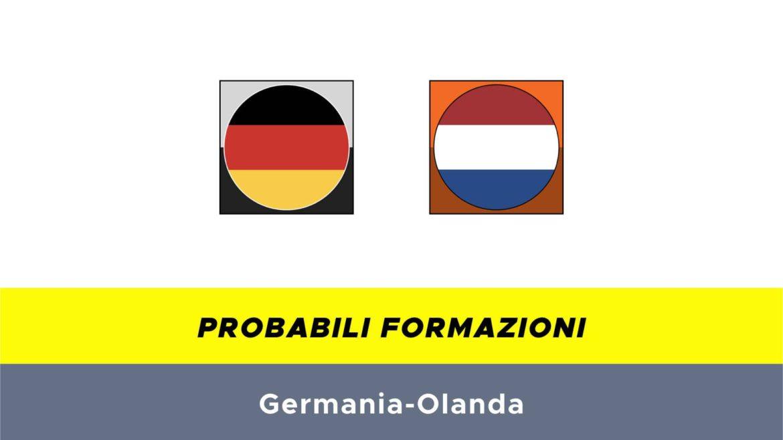 Germania-Olanda probabili formazioni