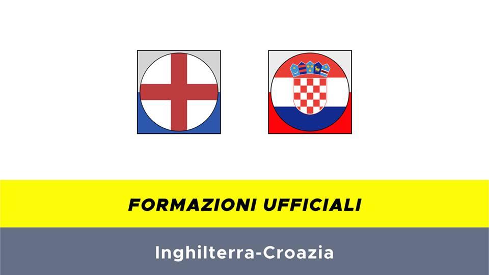 Inghilterra-Croazia formazioni ufficiali