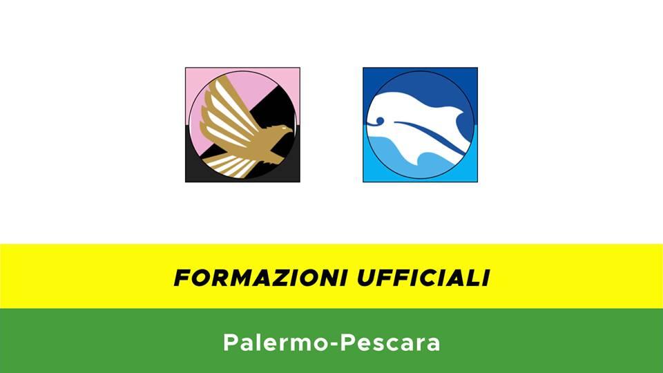 Palermo-Pescara formazioni ufficiali