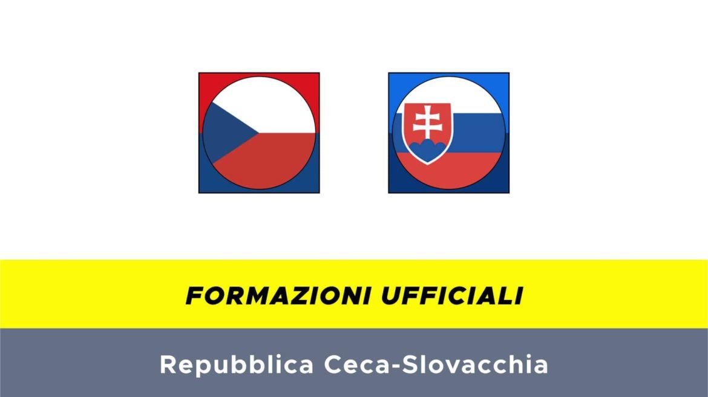 Repubblica Ceca-Slovacchia formazioni ufficiali