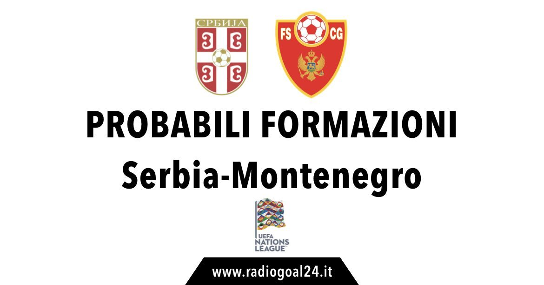 Serbia-Montenegro probabili formazioni