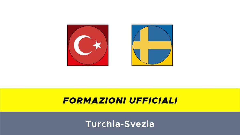 Turchia-Svezia formazioni ufficiali