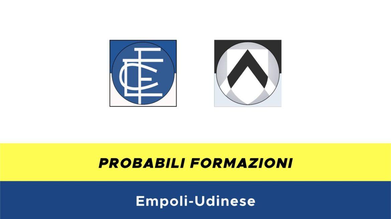 Empoli-Udinese probabili formazioni
