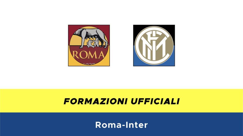Roma-Inter formazioni ufficiali