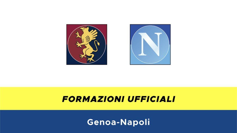 Genoa-Napoli formazioni ufficiali