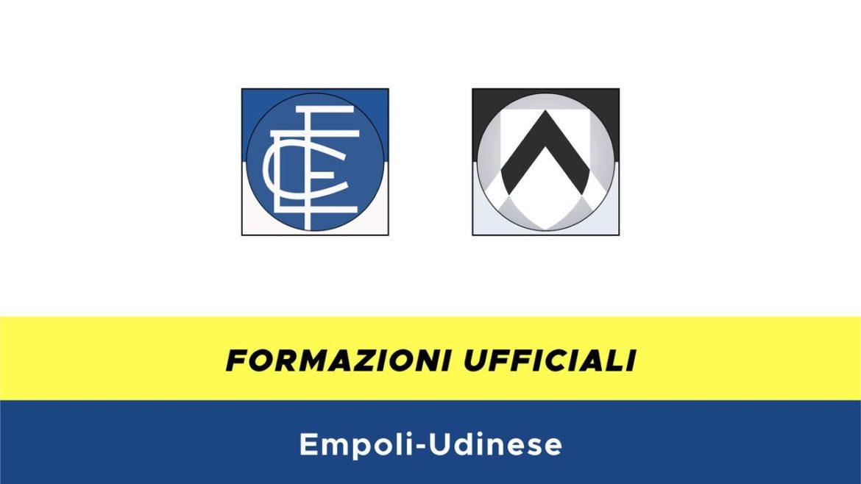 Empoli-Udinese formazioni ufficiali