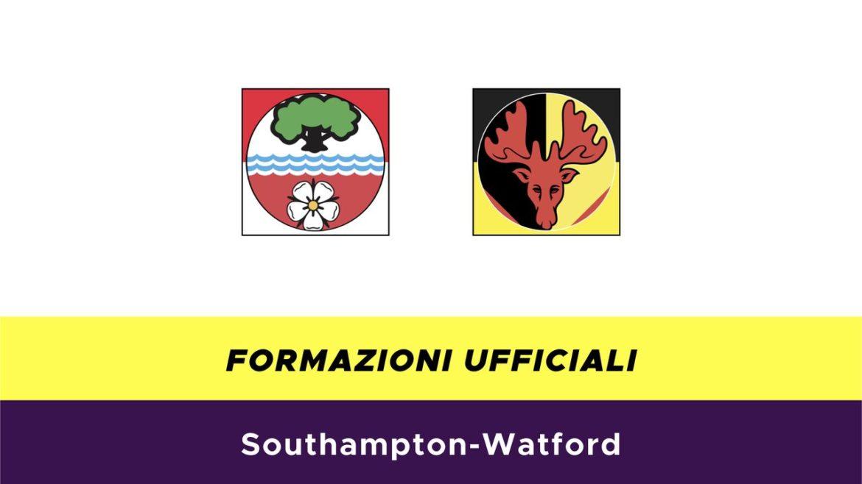 Southampton-Watford formazioni ufficiali