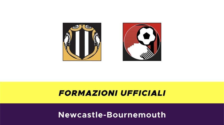 Newcastle-Bournemouth formazioni ufficiali