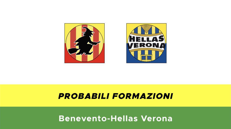 Benevento-Verona formazioni ufficiali
