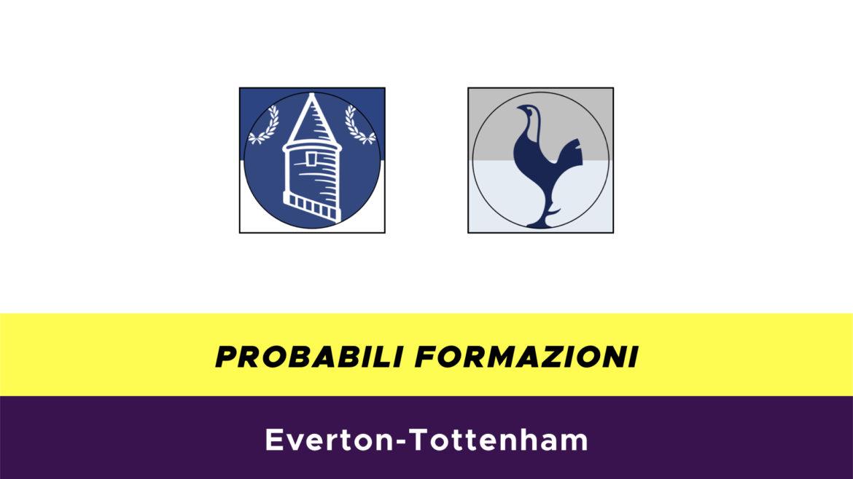 Everton-Tottenham probabili formazioni