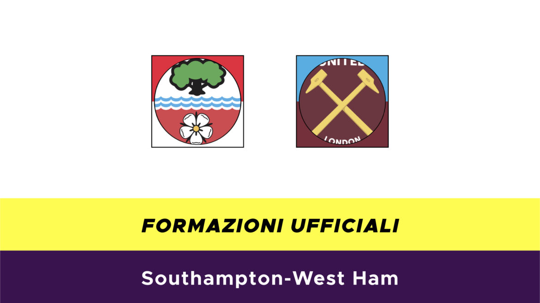 Southampton-West Ham formazioni ufficiali