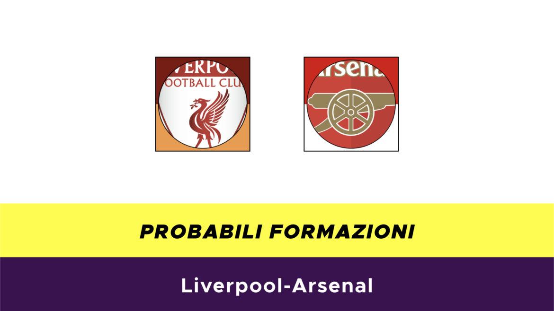 Liverpool-Arsenal probabili formazioni