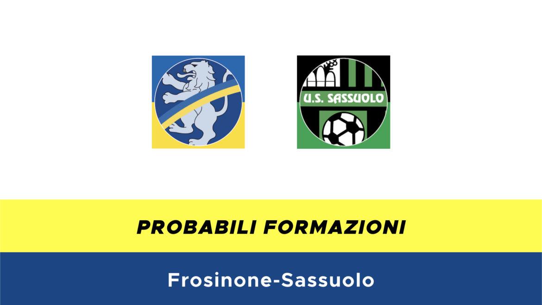 Frosinone-Sassuolo probabili formazioni
