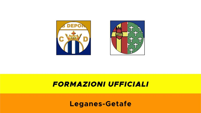 Leganes-Getafe formazioni ufficiali