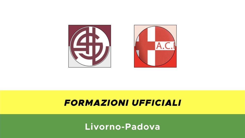 Livorno-Padova formazioni ufficiali