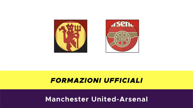 Manchester United-Arsenal formazioni ufficiali
