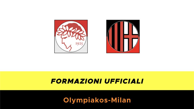 Olympiakos-Milan formazioni ufficiali