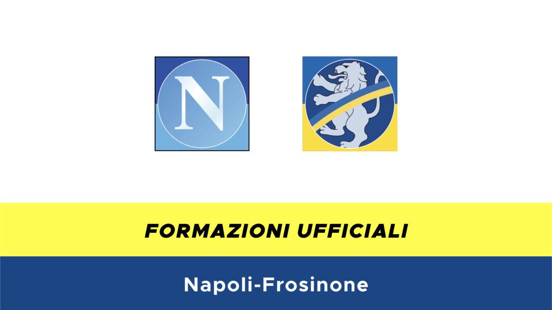 Napoli-Frosinone formazioni ufficiali