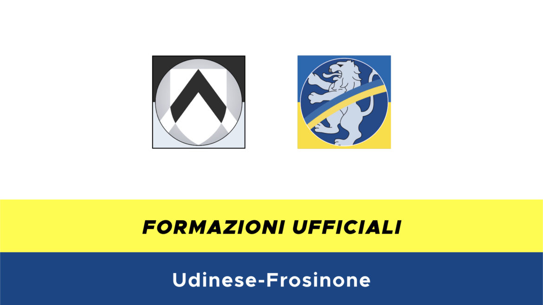 Udinese-Frosinone formazioni ufficiali