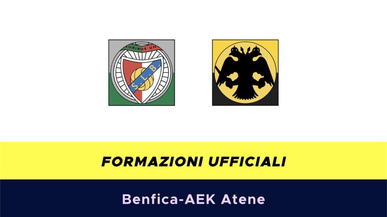 Benfica-AEK Atene formazioni ufficiali