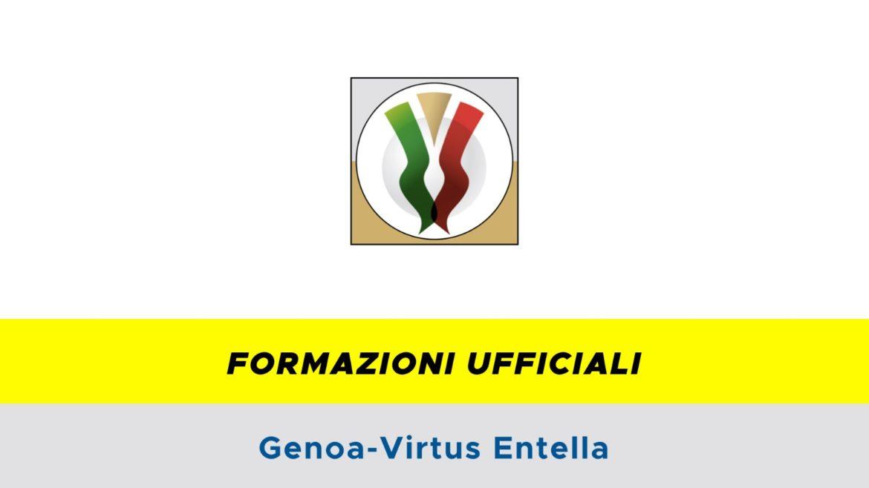 Genoa-Entella formazioni ufficiali