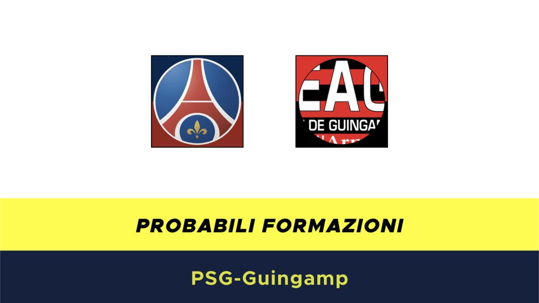 PSG-Guingamp probabili formazioni