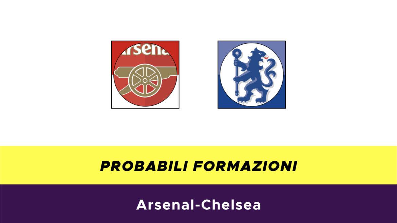 Arsenal-Chelsea probabili formazioni
