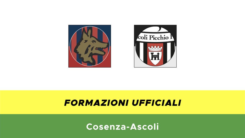 Cosenza-Ascoli formazioni ufficiali