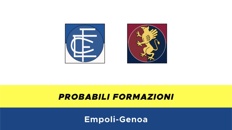 Empoli-Genoa probabili formazioni