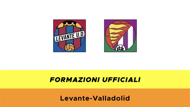 Levante-Valladolid formazioni ufficiali