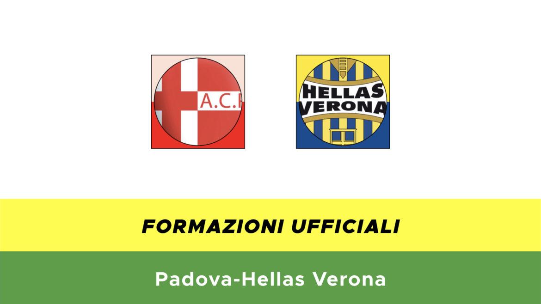 Padova-Verona formazioni ufficiali