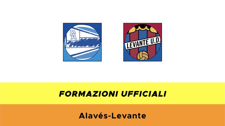 Alavès-Levante formazioni ufficiali
