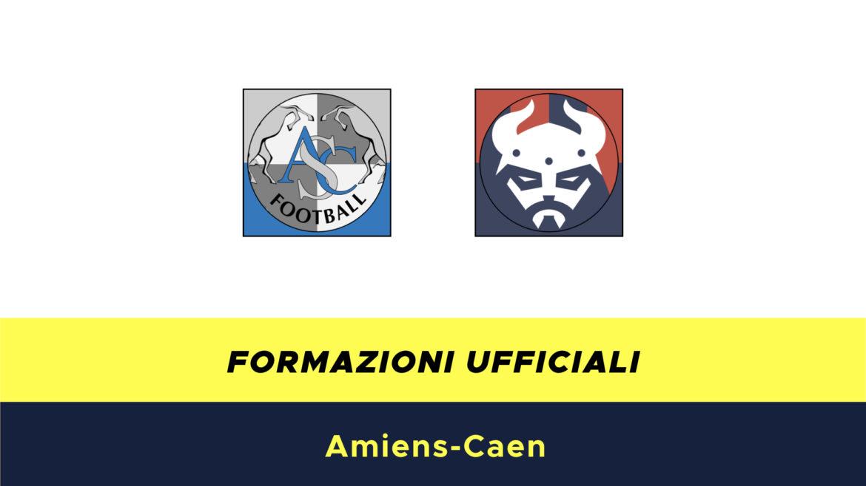 Amiens-Caen formazioni ufficiali