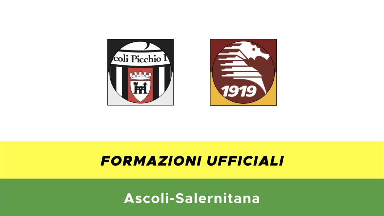 Ascoli-Salernitana formazioni ufficiali