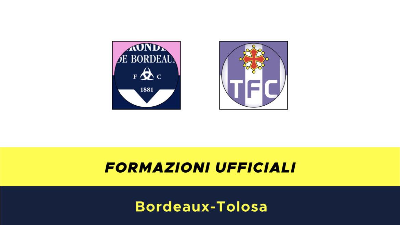Bordeaux-Tolosa formazioni ufficiali