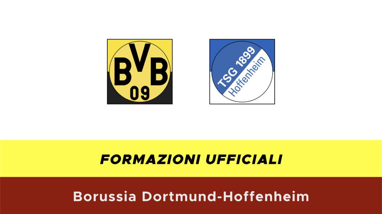 Borussia Dortmund-Hoffenheim formazioni ufficiali
