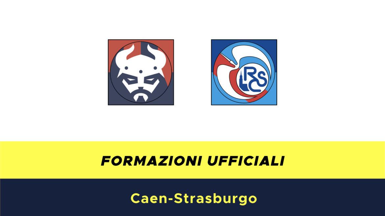 Caen-Strasburgo formazioni ufficiali