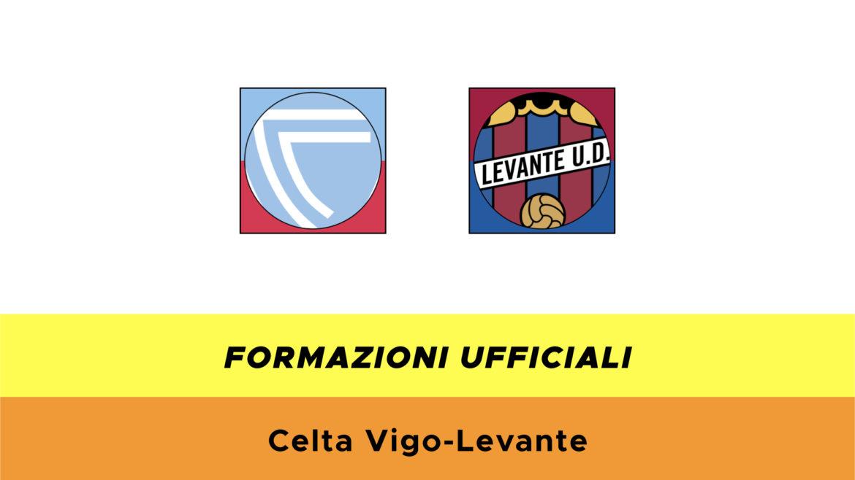 Celta Vigo-Levante formazioni ufficiali