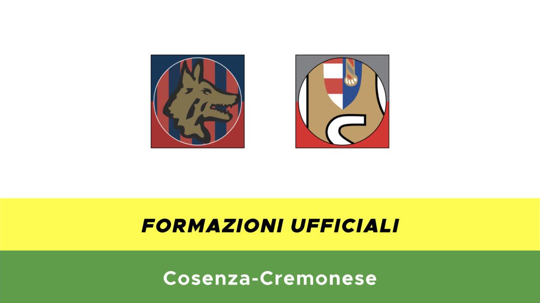 Cosenza-Cremonese formazioni ufficiali