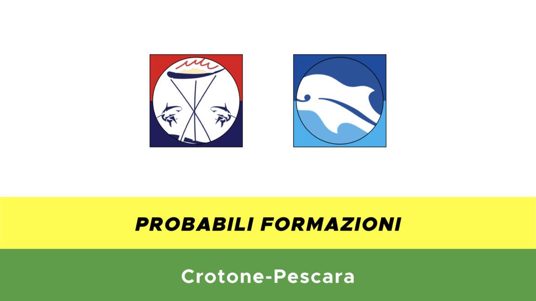 crotone-pescara probabili formazioni