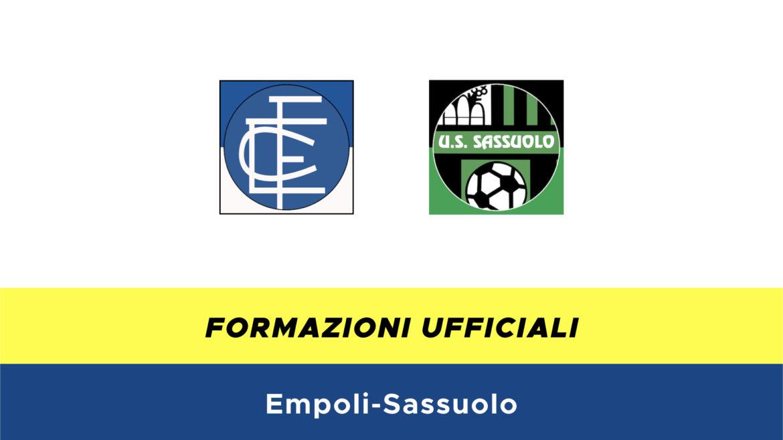 Empoli-Sassuolo formazioni ufficiali