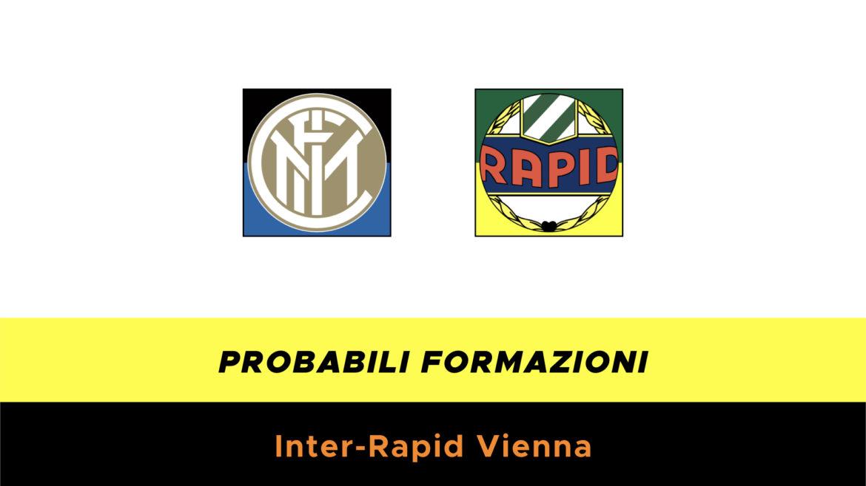 Inter-Rapid Vienna probabili formazioni